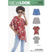 6555 New Look Pattern: Misses' Keyhole Shirt